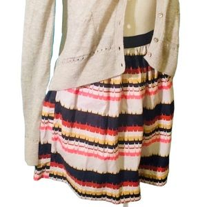 Fossil Multi Stripe Aztec Skirt Size Medium